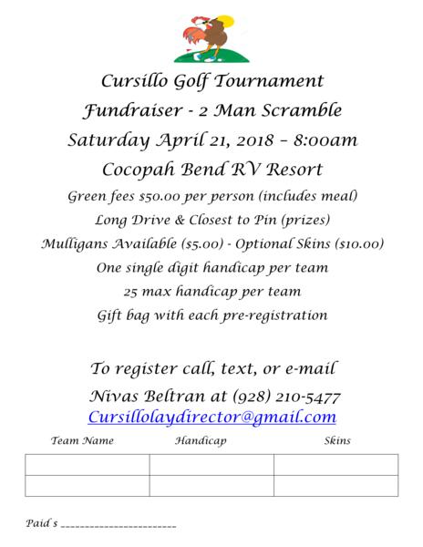 Cursillo Golf Tournament Fundraiser - 2 Man Scramble